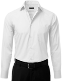 Men's Long Sleeve White Dress Shirt