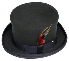 Men's 100% Wool Gray Topper Top Hat