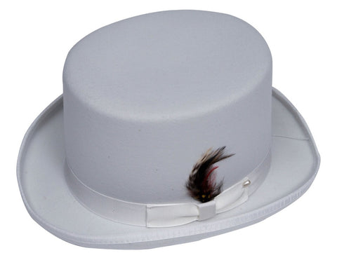 Men's 100% Wool White Topper Top Hat