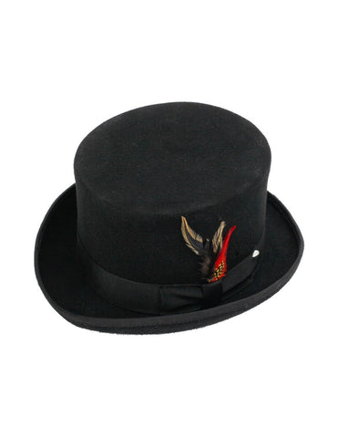 Men's 100% Wool Black Topper Top Hat