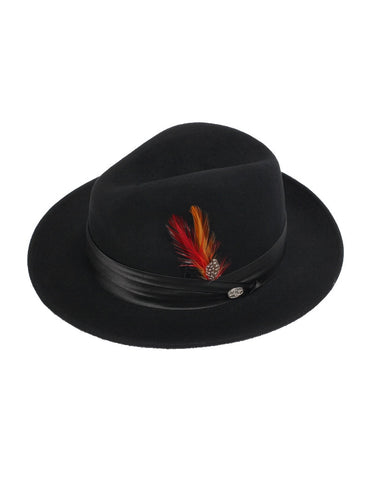 Men's 100% Wool Black Untouchable Fedora Style Hat