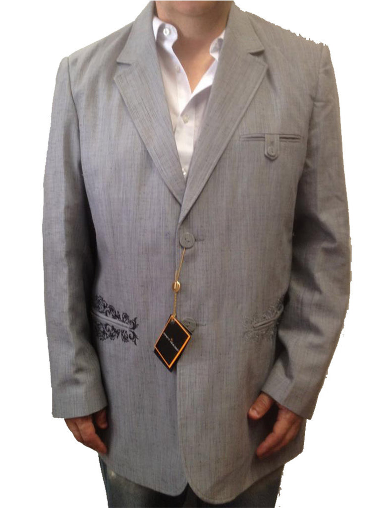 cdb99296 New Men's Stacy Adams Two Button Gray (Grey) Blazer Suit Jacket – New Era  Factory Outlet