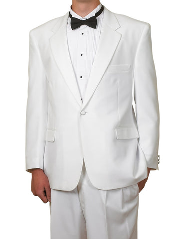Men's Classic  One Button Two Piece White Tuxedo Suit