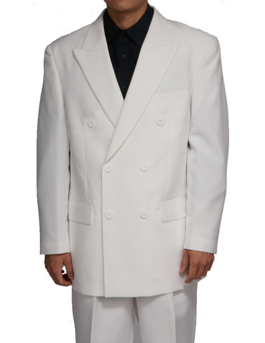 Men's Double Breasted Six Button Formal Cream (Soft White) Dress Suit