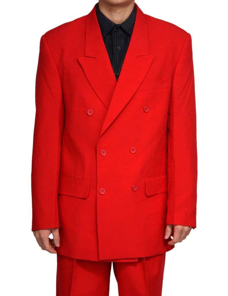 0d394ae8ef Men's Double Breasted Six Button Formal Red Dress Suit – New Era Factory  Outlet