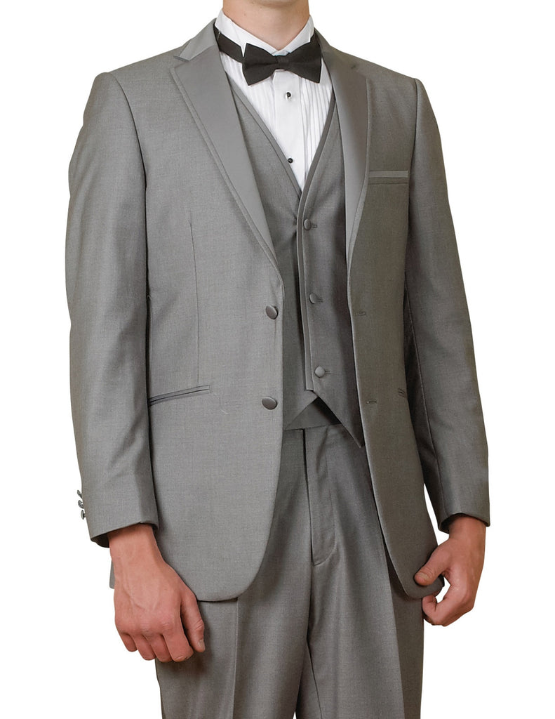 46 Regular New Era Factory Outlet Mens 2 Button Gray Dress Suit