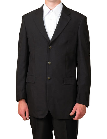 Men's Black Single Breasted Three Button Suit Jacket Sportscoat Dinner Blazer