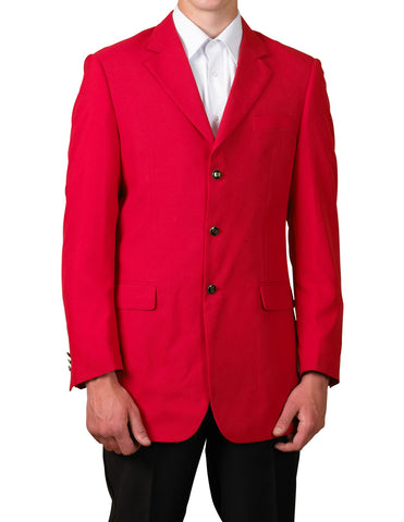 Men's Red Single Breasted Three Button Blazer Sportscoat Dinner Suit Jacket