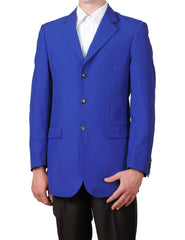 Men's Royal Blue Single Breasted Three Button Suit Jacket Sportscoat Dinner Blazer