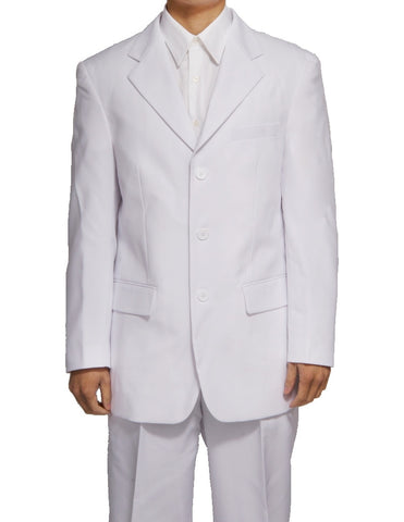 Men's Three Button White Dress Suit