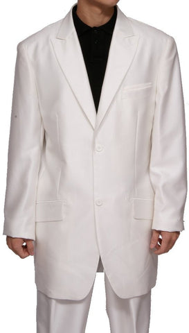 Men's 2 Button Cream (Off-White) Dress Suit