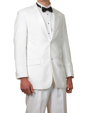 New Men's White Two Button Tuxedo Suit