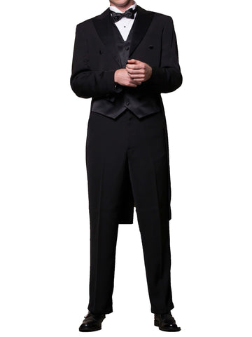 Men's Black Tuxedo with Tails Includes Jacket and Pants  Brand New
