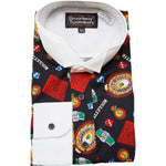 Men's Casino Vegas Themed Tuxedo Shirt by Broadway Tuxmakers