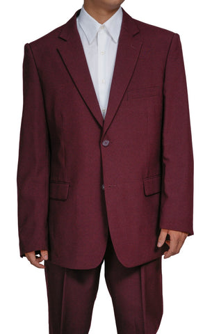 Men's 2 Button Burgundy/Maroon Dress Suit
