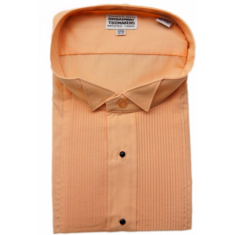 Men's Peach (Light Orange) Tuxedo Shirt