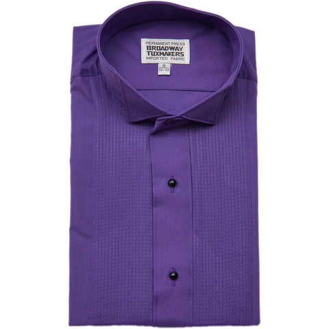 Men's Purple Tuxedo Shirt