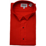 Men's Red Tuxedo Shirt