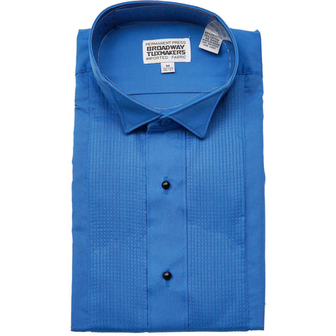 Men's Royal Blue Tuxedo Shirt