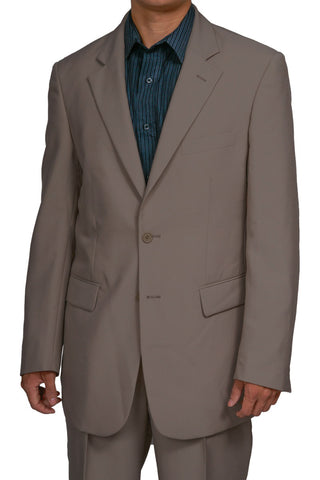 Men's 2 Button Khaki Dress Suit New