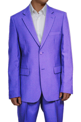 Men's 2 Button Lavender Dress Suit New
