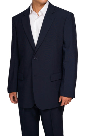 Men's 2 Button Navy Blue Dress Suit