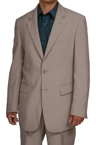 Men's 2 Button Tan / Beige Dress Suit