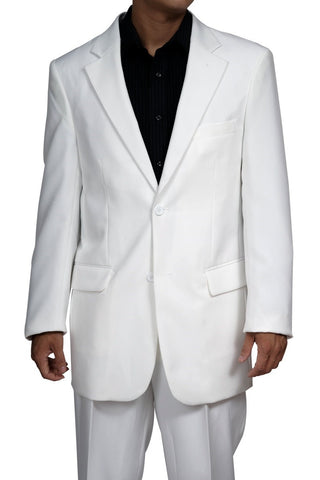 Men's 2 Button White Dress Suit