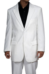 New Men's Two Button White Dress Suit - Includes Jacket and Pants