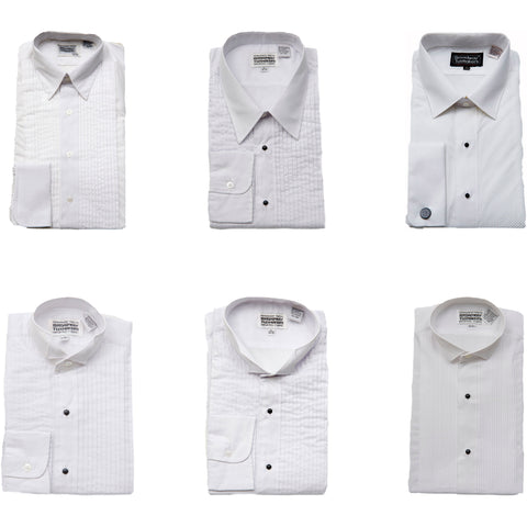 50 Open Assorted Men's White Tuxedo Shirts