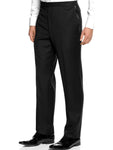 Men's Black Pleated Adjustable Wool Tuxedo Pants by Broadway Tuxmakers