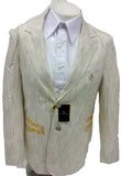 New Men's Stacy Adams Two Button Light Tan (Beige / Khaki) Blazer Suit Jacket