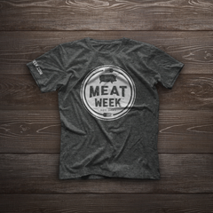 Heather Charcoal Meat Week Logo Shirt