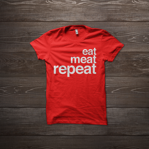 Eat Meat Repeat Shirt - Red
