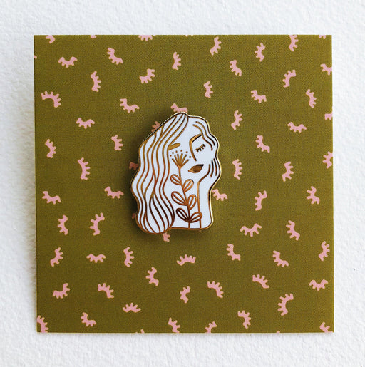 Flower Face Enamel Pin