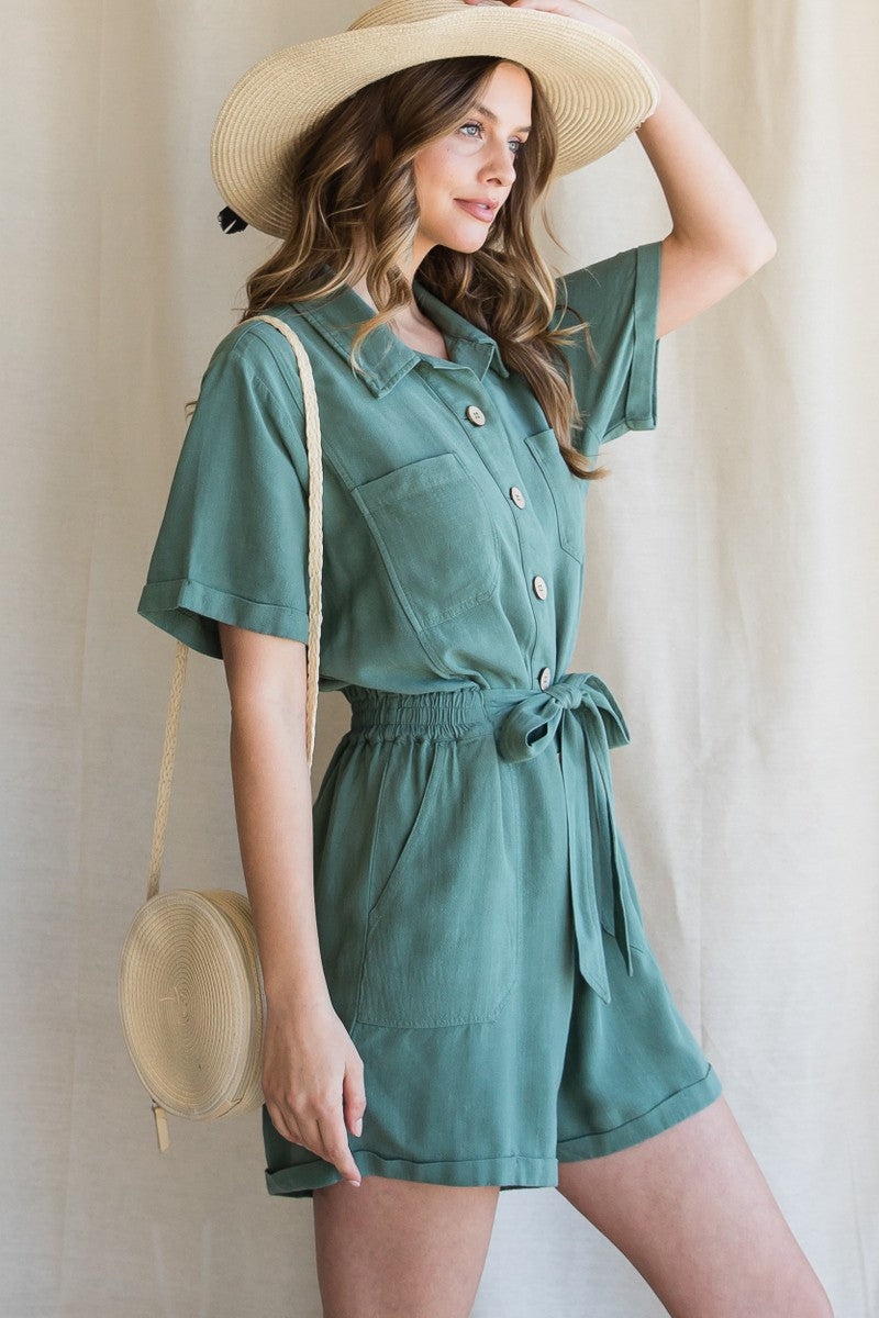 Harper Button-Up Romper