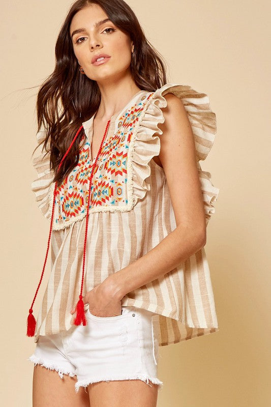 Marisol Embroidery Top