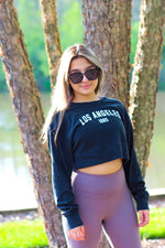 Los Angeles 1985 Cropped Crew Neck Sweatshirt