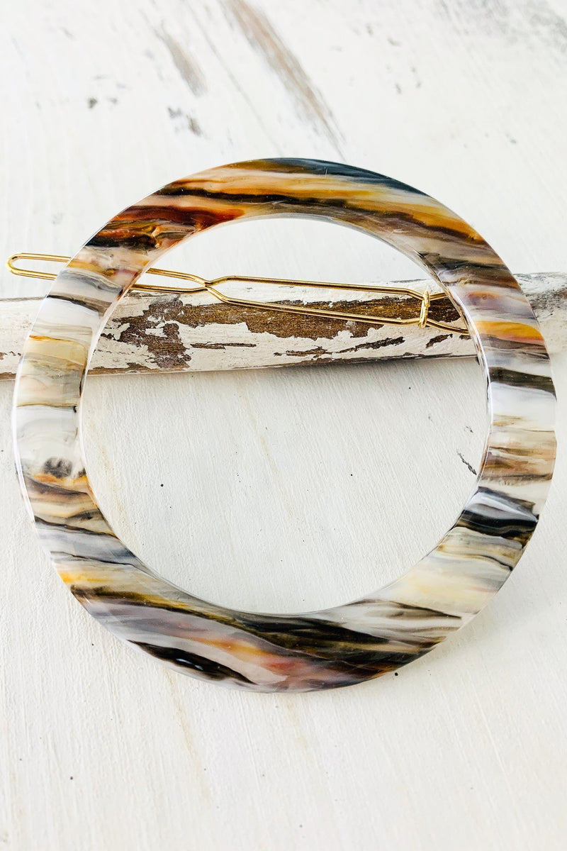 Acrylic Circle Barrette