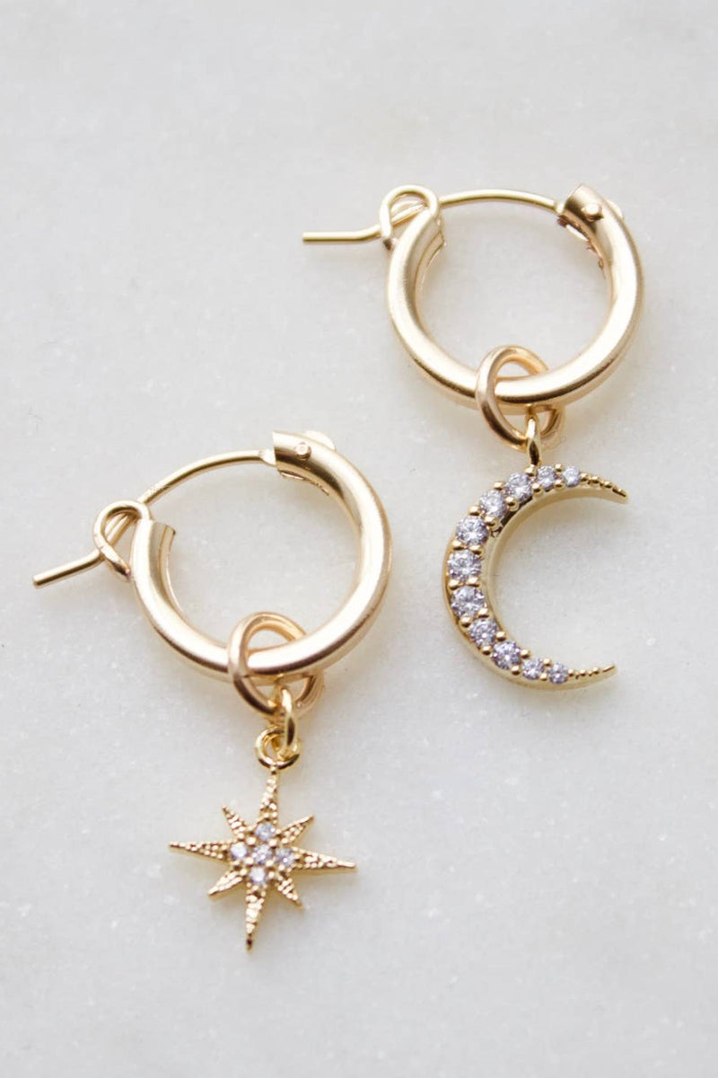 Small Gold Filled Hoops With Cubic Zirconia