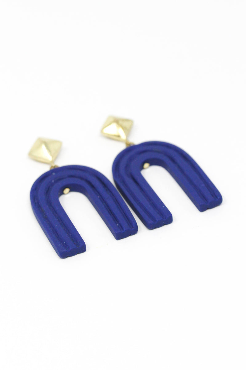 Royal Blue Rainbow Earrings