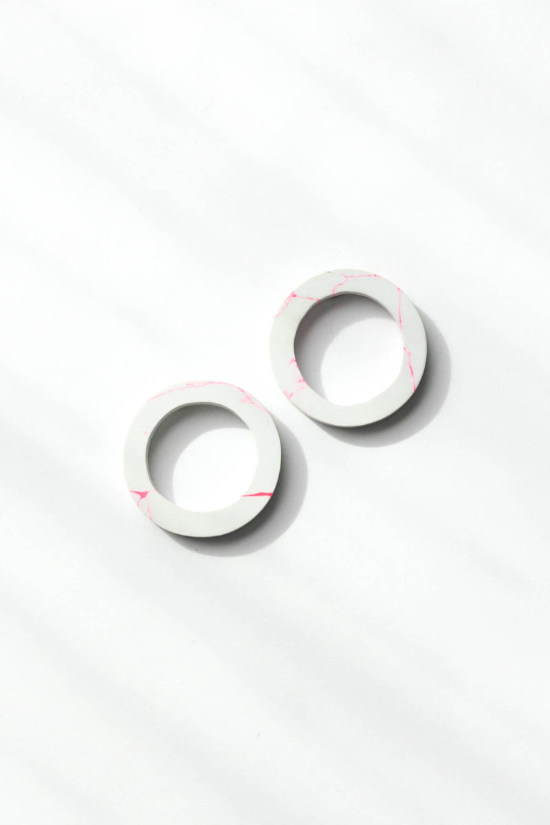 Clay Circle Earrings
