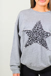 Cheetah Star Terry Sweatshirt