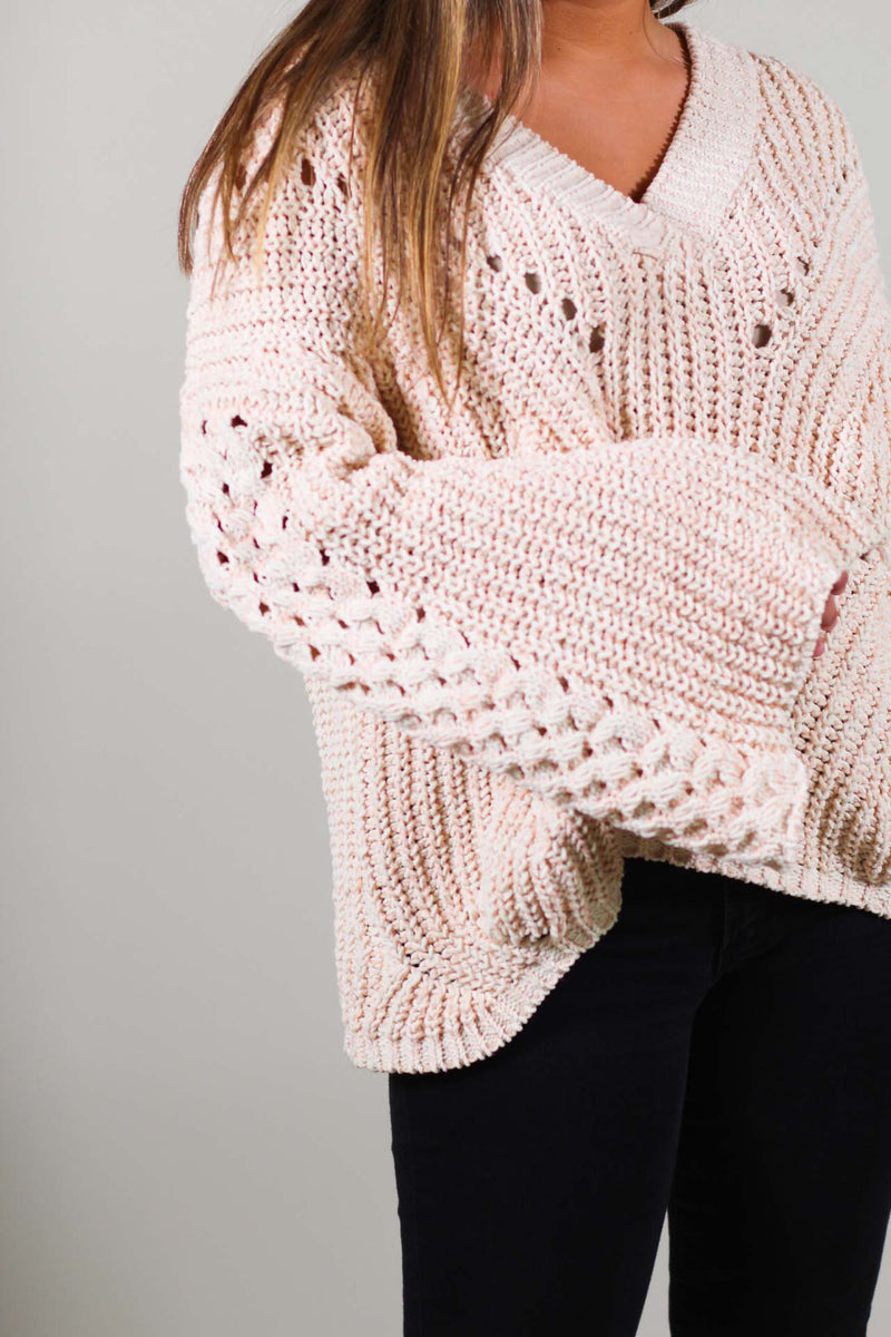 Parisian Style Bell Sleeve Sweater