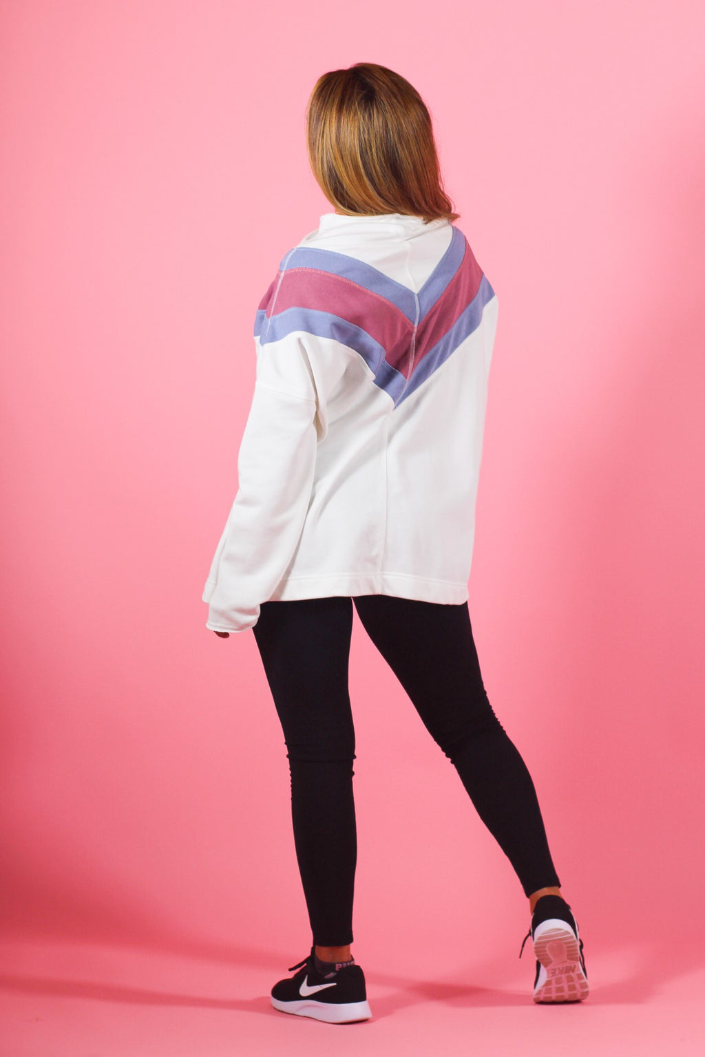 Color Block Oversized Pullover