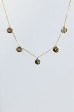 Chain With Gold Plate Small Coin Dangles