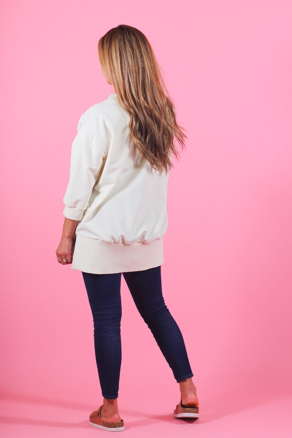Oversized 3/4 Sleeve Sweatshirt