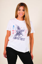 God Bless America Distressed Vintage Graphic Tee
