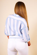 Long Sleeve Button-Up/ Tie Front Top
