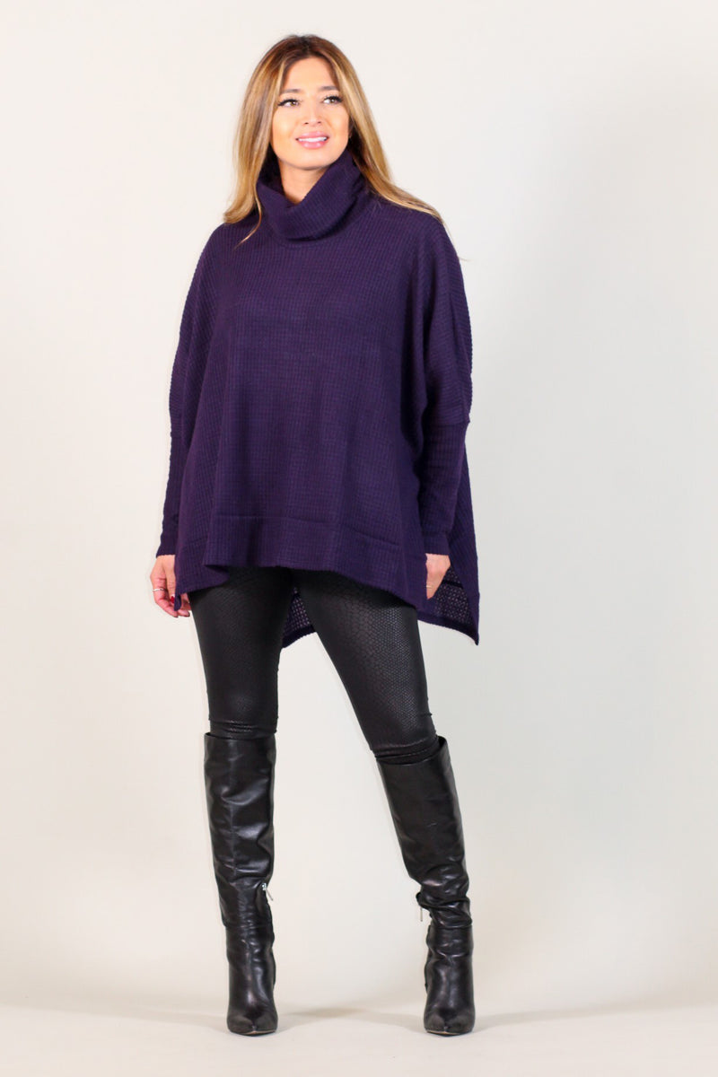 Brushed Thermal Turtleneck Boxy Top
